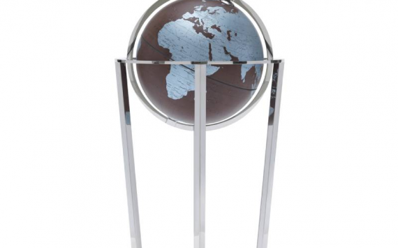 Levante Floor globe with stainless steel base