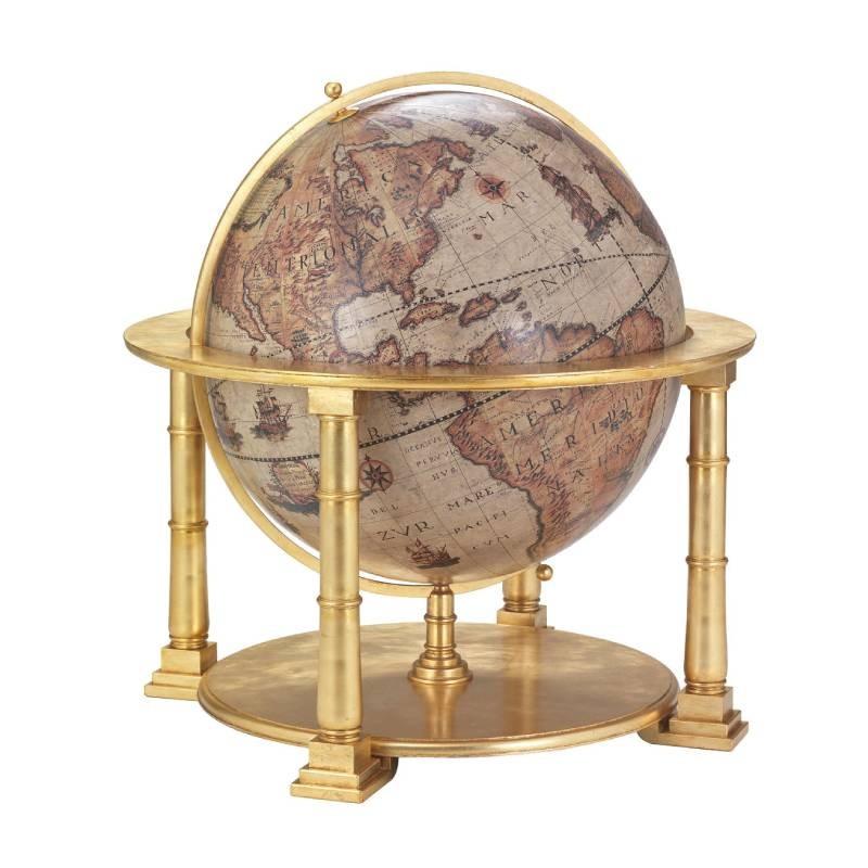 """mappamondo in legno """"Colosso"""" – Gold"""