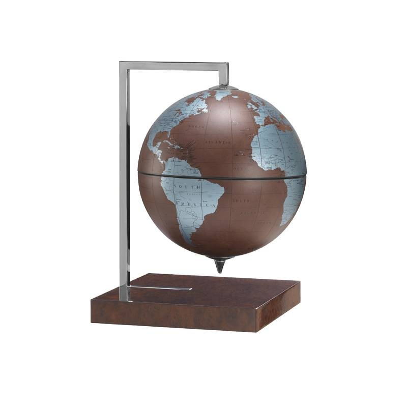"""Quadra Leather"" briar base décor globe"