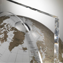 """""""Artico White"""" Floor Globe in Crystal and Marble"""