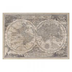 Mappa Planisphaerium Terrestre in Tela Antica