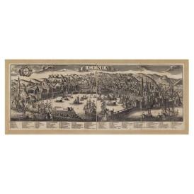 Mappa Veduta di Genova in Tela Antica