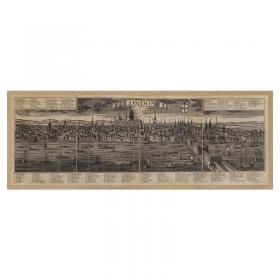 Mappa Veduta di Londra in Tela Antica