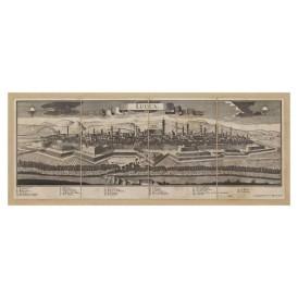 Mappa Veduta di Lucca in Tela Antica