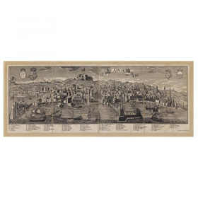 Mappa Veduta di Neapolis - Napoli in Tela Antica