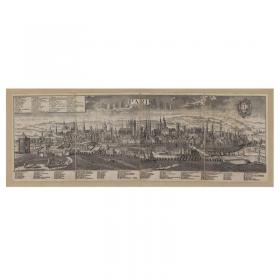 Mappa Veduta di Parigi in Tela Antica