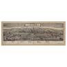 Mappa Veduta di Pistoia in Tela Antica