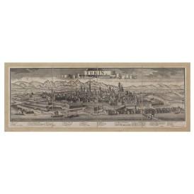 Mappa Veduta di Turin - Torino in Tela Antica